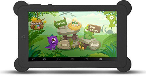 KOCASO 7 Inch Quad Core [Android 4.4 KitKat] Kid's HD Tablet PC- 8GB Storage W/ 32 Expandable Memory Micro USB/SD Card Slot 1024x600 Dual Camera WiFi G-Sensor 3G Dongle Google Play Apps- Black