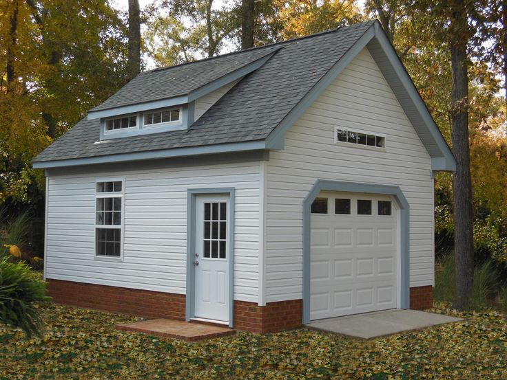 Beautiful Garage With Transom Windows And Dormer With