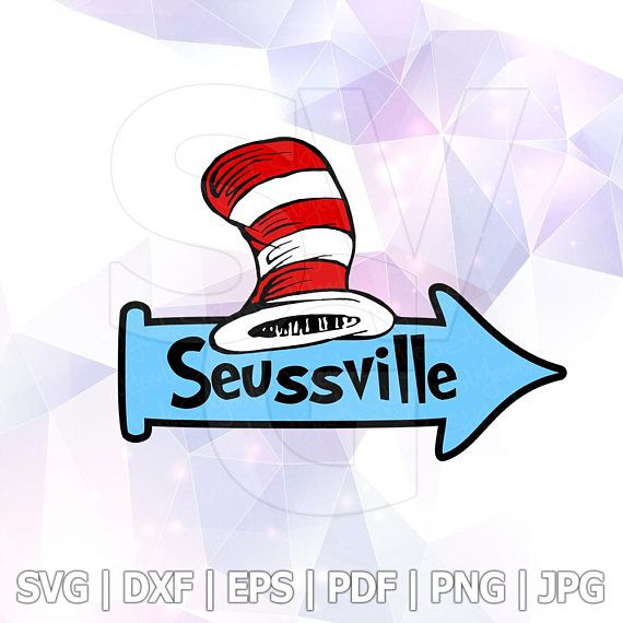 Svg Png Dxf The Cat In The Hat Dr Seuss Cricut Design Silhouette Cameo Birthday Party Suppl Birthday Party Supplies Decoration Birthday Party Supplies Dr Seuss