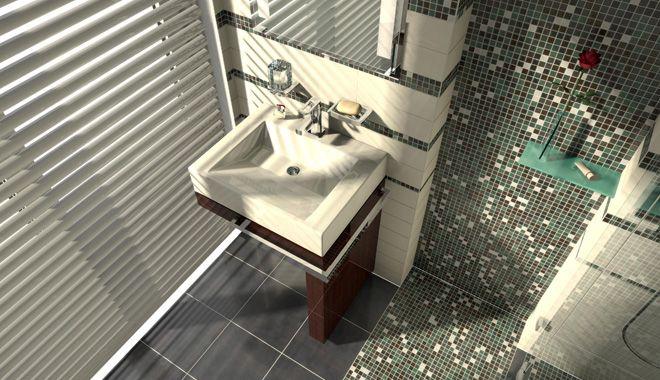 Projekt łazienki wykonany w programie Palette CAD