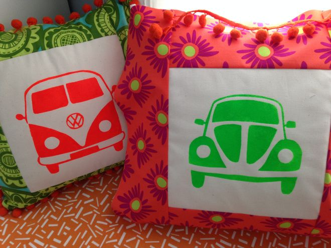 Free Printable and Tutorial: VW Bug Stencil