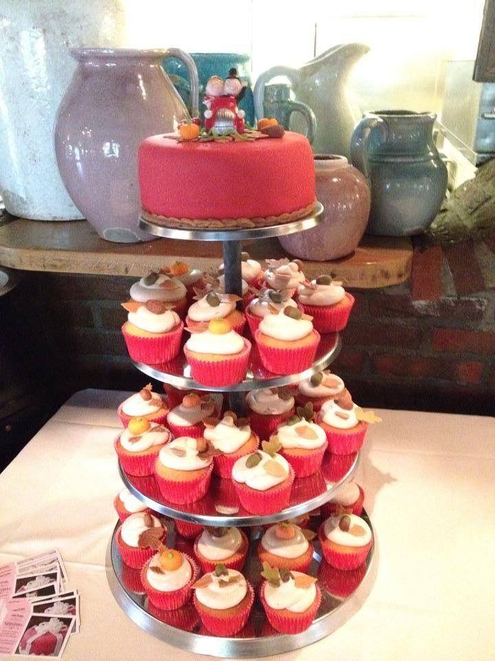 Herfsttaart + cupcakes