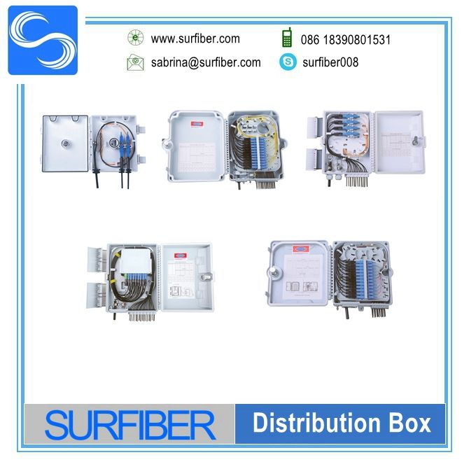 Gpon 24 Core Waterproof Fiber Optic Cable Distribute Box With Sc Pc Adapter Fiber Optic Fiber Optic Cable Fiber