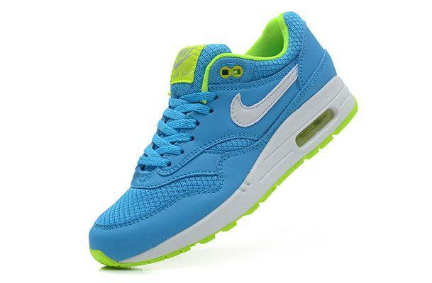 Cheap Nike Air Max 1 Air Max 87 Women Shoes Blue Green White For Sale