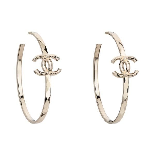 Hoop Earrings Liked On Polyvore Featuring Jewelry Accessories Chanel Costume Jewellery Earri