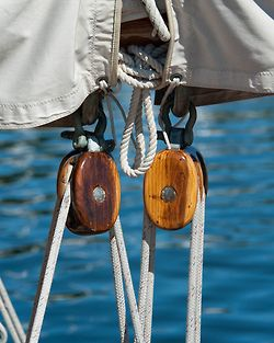 Blocks, and ropes attached... is there anything more secure? ; )