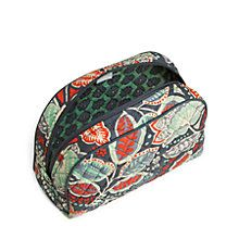 This classic zip-top cosmetic bag is perfect for travel or on a vanity table.