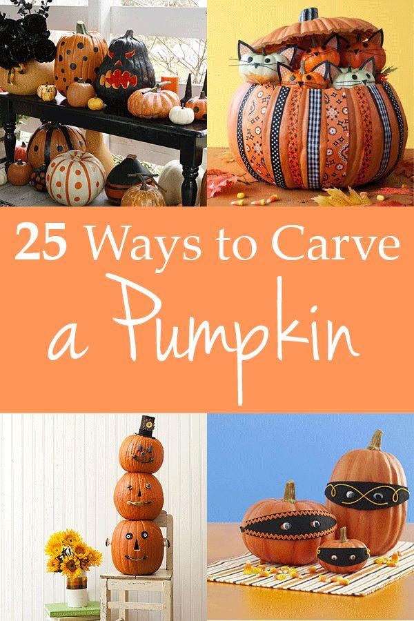 25 ways to carve a pumpkin