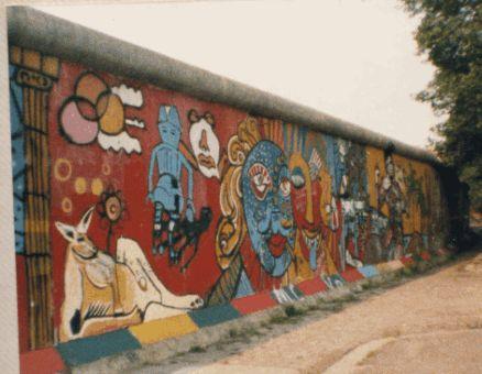 The Berlin Wall in 1987, seen from West Berlin.