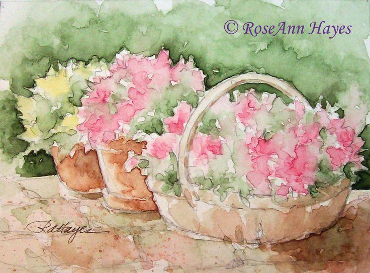 Se trata de una impresión de una de mis acuarelas originales, que representan tres contenedores repletos de flores, rosas y amarillos sobre un patio de ladrillo. Los colores son suaves y apacibles, y funcionaría bien en alguna casa elegante. Sería un regalo de inauguración de la casa perfecta para un amigo, o una obra de arte de sobremesa para la oficina de alguien. La impresión es tamaño de ACEO, 2,5 x 3,5. Se trata de mate en un nuevo blanco bisel de corte 5 x 7 mat. Esta impresión llegará…