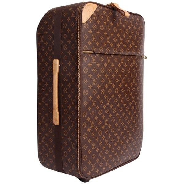 Pre-owned Louis Vuitton 65 Rolling Luggage Suitcase Travel 2516... ($2,359) ❤ liked on Polyvore featuring bags, luggage and monogram canvas