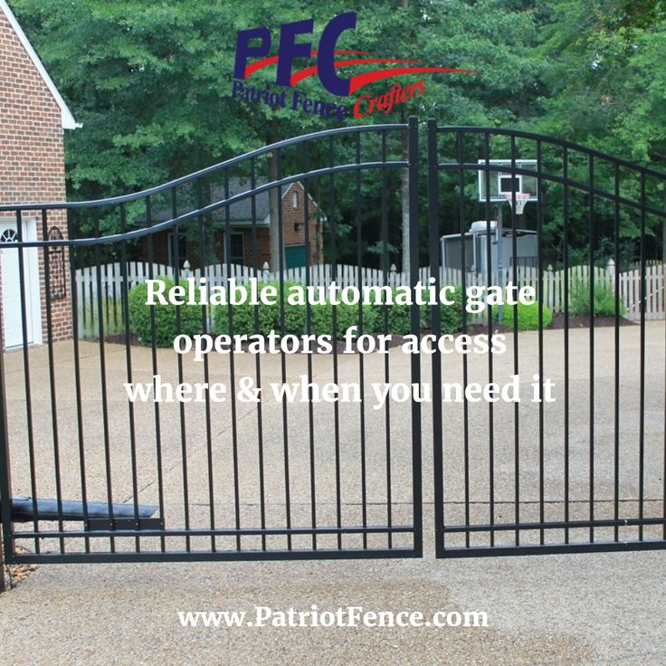 Reliable automatic gate operators for access where & when you need it Get Your Fence Free Quote Today @ www.patriotfence.com  #fence #fences #privacyfence #securityfence #fencing #fencecompany #residential #commercial #vinyl #wood #metal #chainlink #picket #boston #northshore #andover #beverly #danvers #gloucester