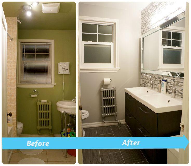 Diy Bathroom Remodel Before And After 85 best bathroom reno images on pinterest   bathroom ideas, room