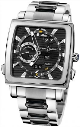 Ulysse Nardin Quadrato Dual Time Perpetual Men's Watch. Available through our Brand Name Watches auction, live now!