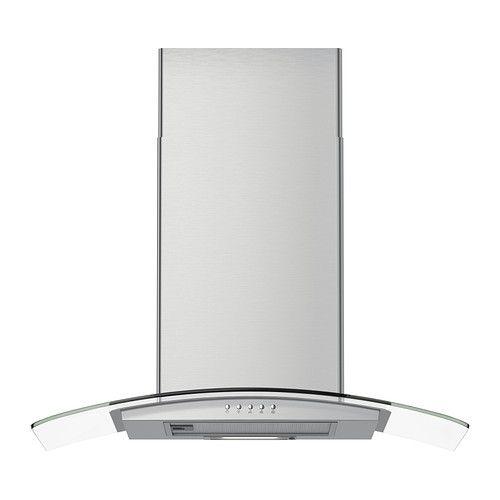 IKEA - GODMODIG, Hotte aspirante murale, Ampoule comprise qui procure un éclairage adéquat pour faire la cuisine. 449,00$