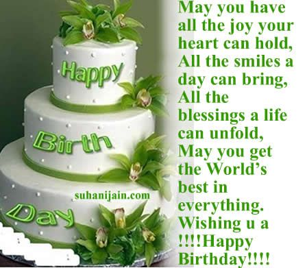 Birthday Quotes With Images Of Cake : happy brithday blessing messages Birthday Wishes,quotes ...