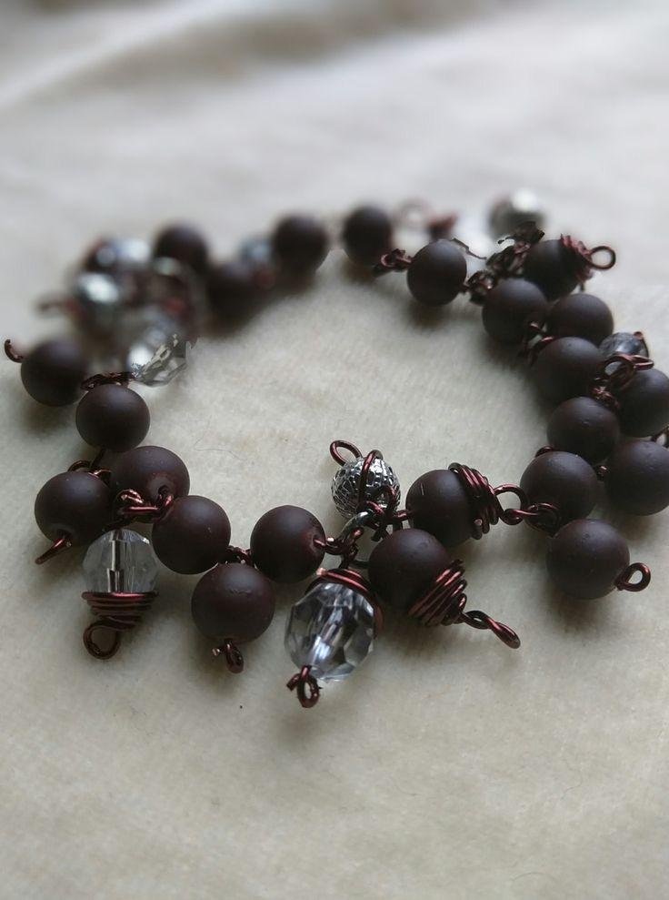 Chocolate Charm Bracelet by SassieDiva on Etsy