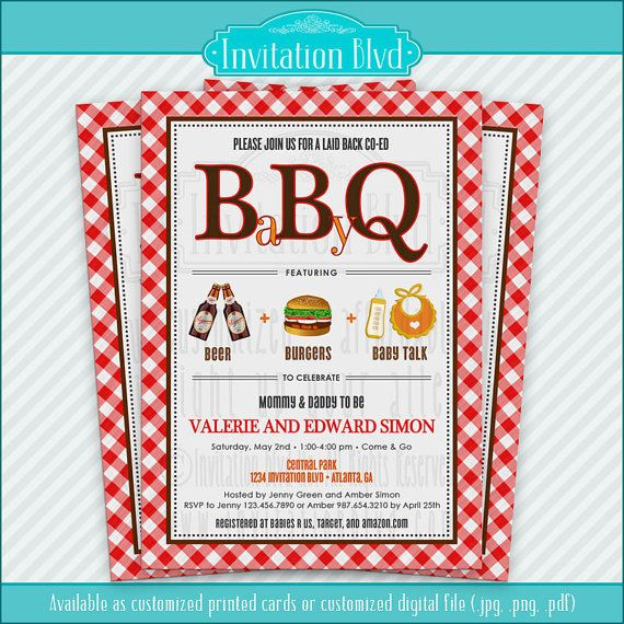 17 best baby shower invitations images on pinterest baby shower co ed baby shower barbecue invitation by invitationblvd filmwisefo Image collections