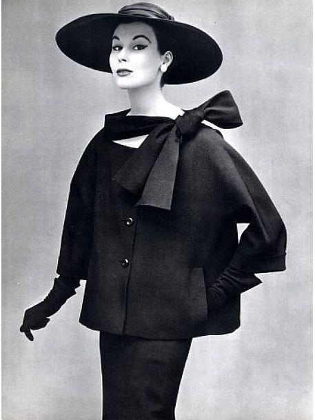 hollyhocksandtulips:    Christian Dior, 1953  Photo by Philippe Pottier
