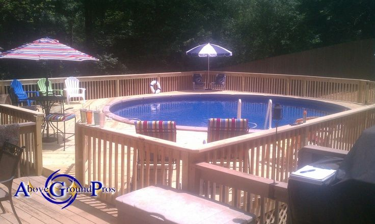 Above Ground Pools With Decks Installed Above Ground Pools And Installation And Service For
