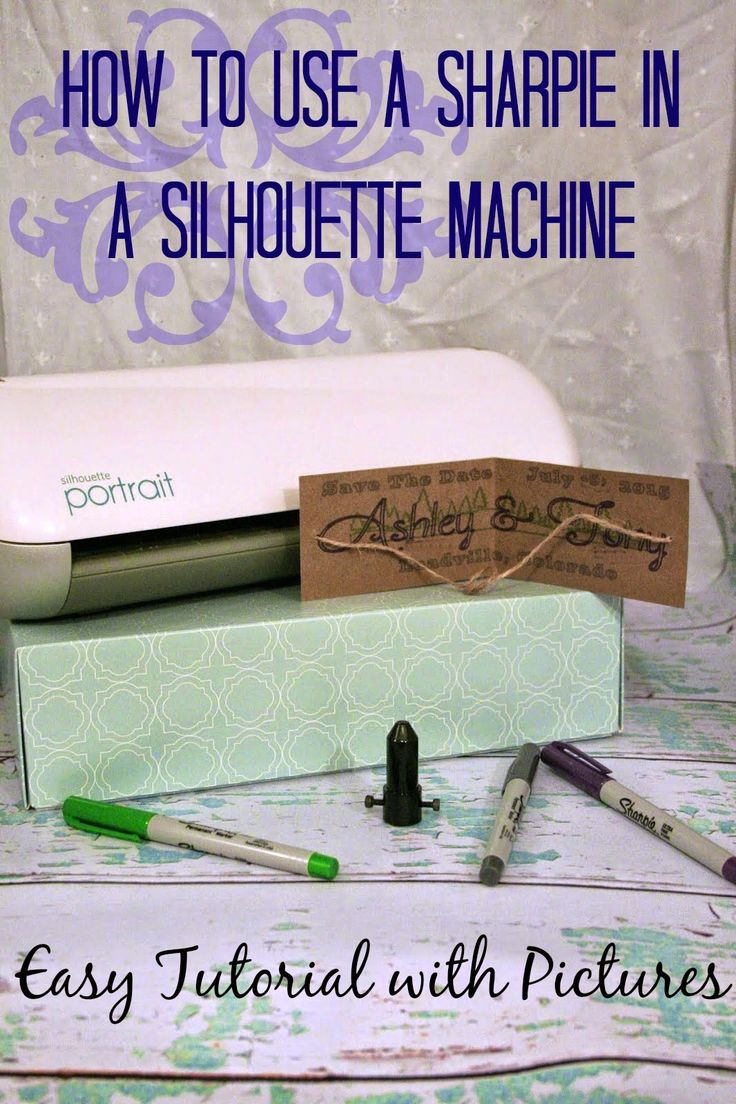 How to use a sharpie in a Silhouette cameo Pen Holder