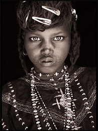 Portrait of a young girl from the Sahel region of West Africa. 2009. Photograph: John Kenny