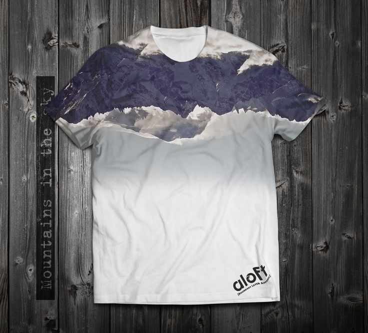 """https://www.aloft.clothing """"Mountains in the sky"""" men's t-shirt, polyester, dye sublimation. paragliding brand, casual line Like our page: https://www.facebook.com/AloftBoundaryLayerApparel"""