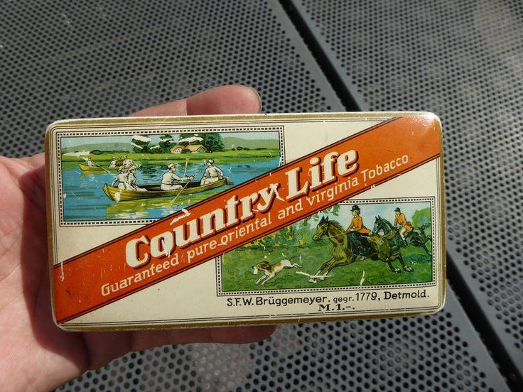Tabakdose Country Life - Brüggemeyer Detmold - Tobacco Tin