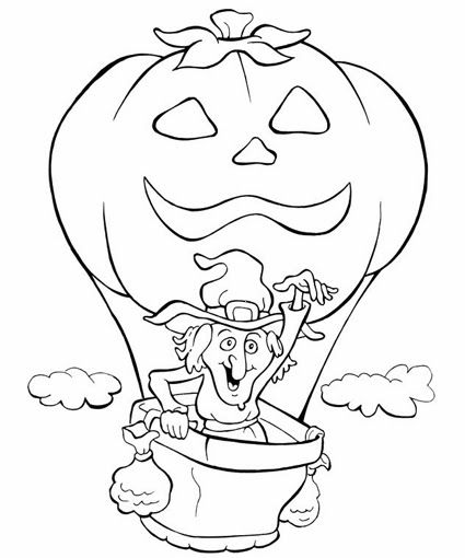 Halloween Coloring Pages: 155 Halloween pictures to print and color.