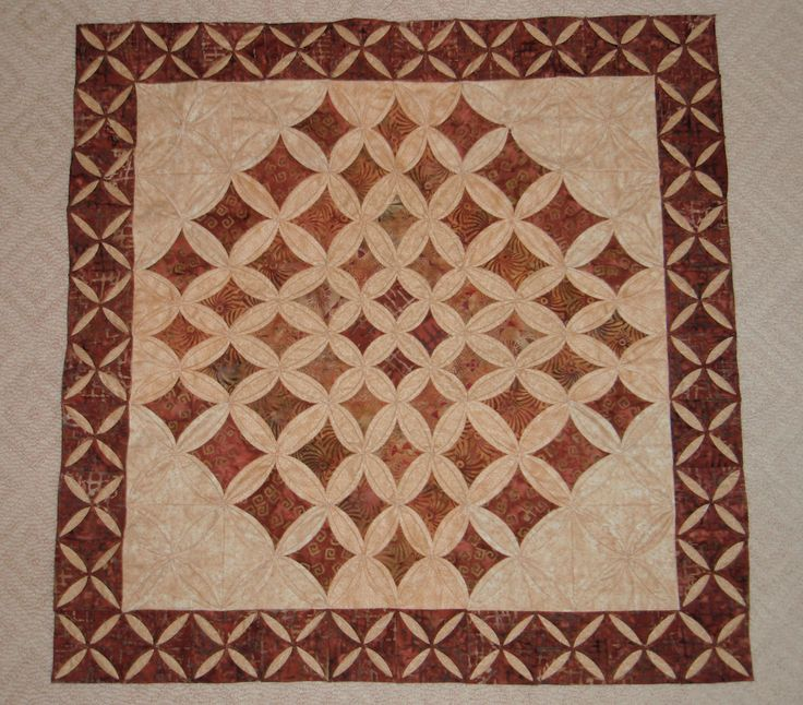 cathedral window quilt