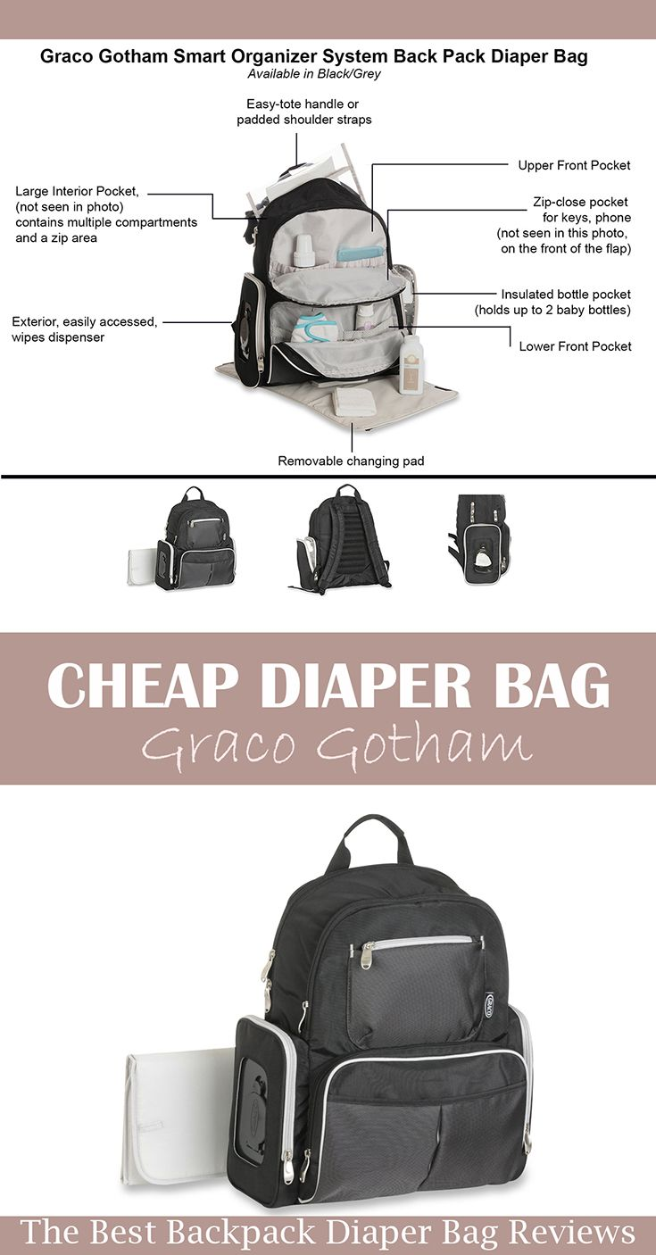 A super cheap (under $30) baby backpack diaper bag!! And it packed to the brim with organizational features!   We love this one!  Read our review on our blog :)  >>>>>>>>>>>>>>>>>>>>>>>>>>>>>>>>>>>  Baby Bag | Travel Backpack | Designer Nursing Bag for Baby Care | Baby Backpack Diaper Bag Best | Best Diaper Bags | Diaper Bag Backpack Boy | Backpack Diaper Bag for Dad | Backpack Diaper Bag Cheap | Affordable Backpack Diaper Bag | Backpack Diaper Bag Black | Graco Gotham Diaper Bag