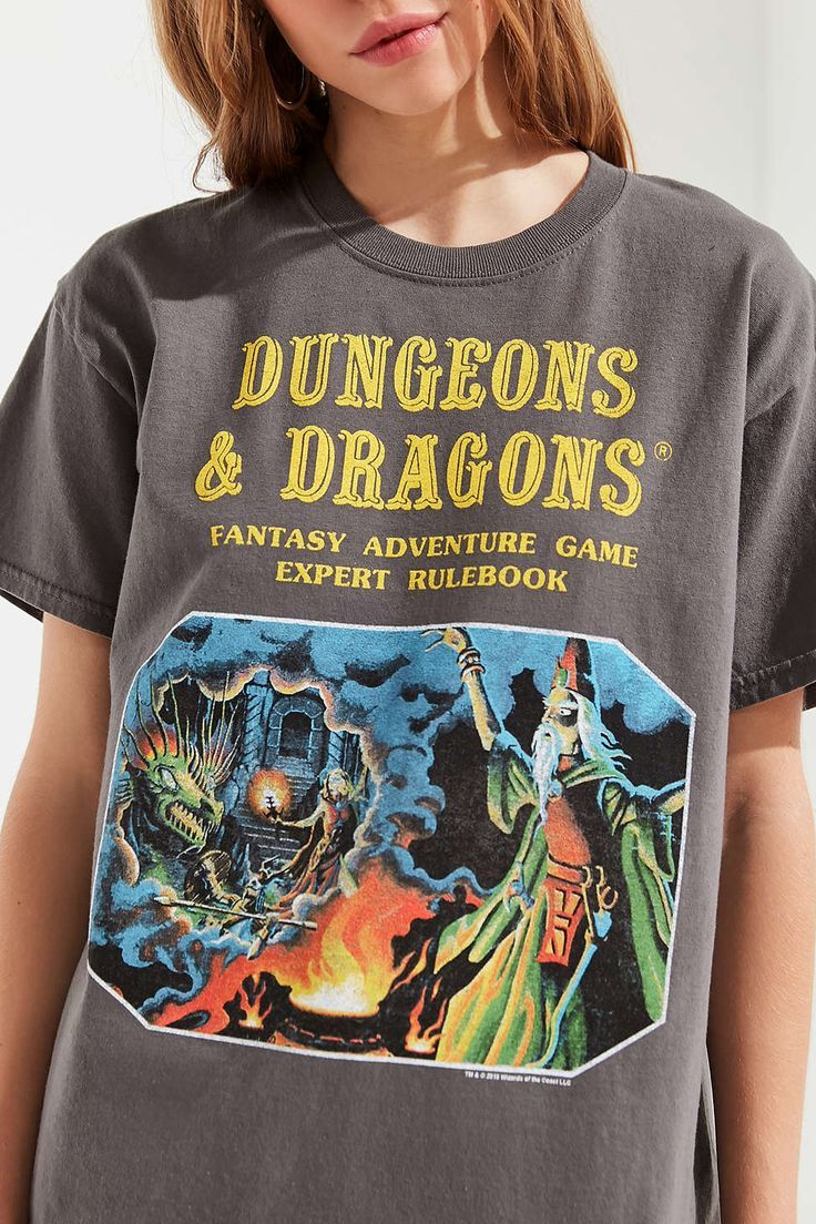 Vintage Dungeons And Dragons T Shirt Throwback Board Games Fantasy Games Vintage Clothing Ad Urban Outfitters Vintage Outfits Tees