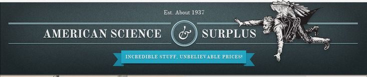 American Science and Surplus - anything from here is sure to please your favorite science teacher!