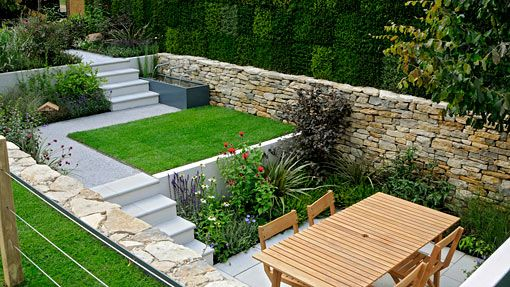 Tiered Backyard Landscaping Ideas : Small Garden designed by Will Quarmby at Hampton Court Flower Show