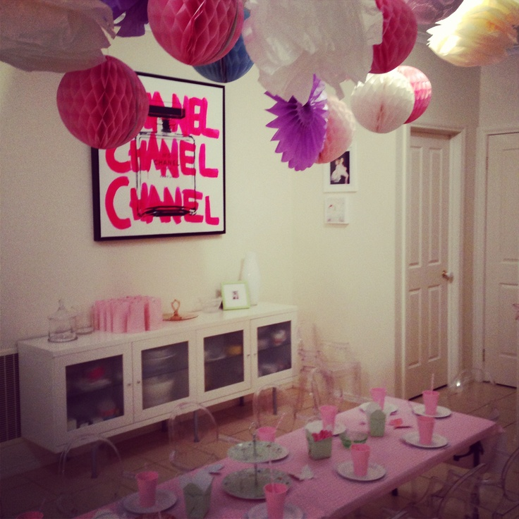 2nd birthday party with paper decorations