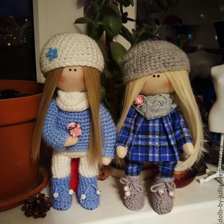 Купить Текстильная кукла ручной работы - синий, кукла ручной работы, кукла, кукла в подарок
