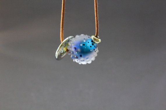 Blue Cosmique Handmade Necklace Glass Lampwork by MarvellousWings