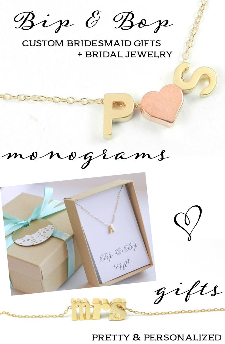 Unique Wedding Gifts Under USD100 : Custom Bridesmaid Gifts Bridal Jewelry from Bip Bop: Win a USD100 Gift ...