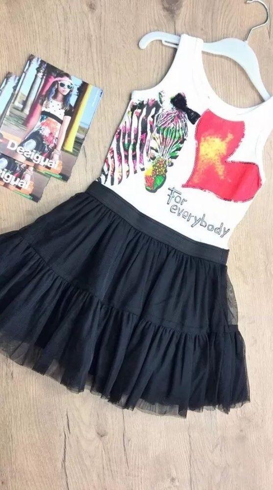 Desigual Brand Zebra Tutu Dress Girls Size 5/6  | eBay