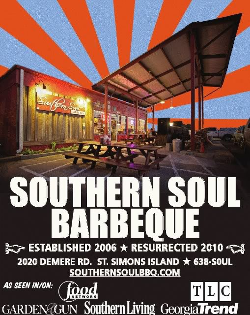 Southern Soul Barbeque on Saint Simons Island, Georgia.  Best bbq in the usa...hands down!!