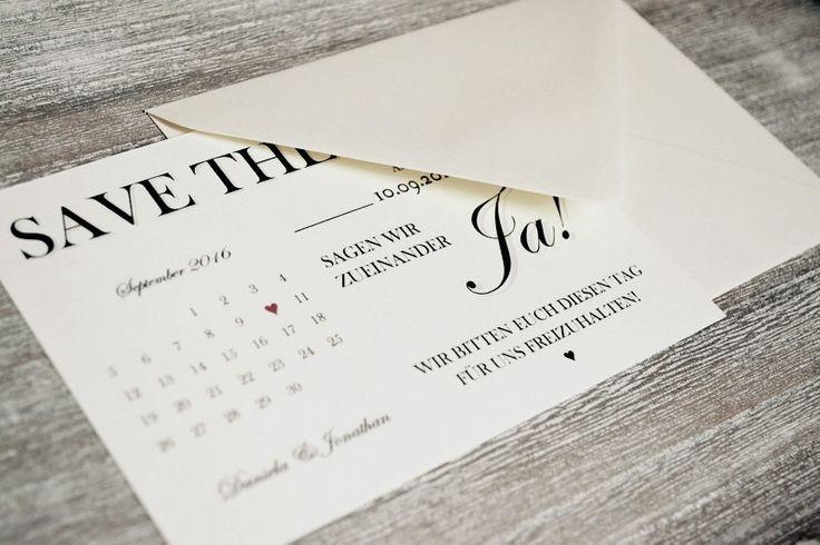 Einladungskarten - Save the Date - Karten zur Hochzeit Vintage - ein Designerstück von Velvet-Design bei DaWanda
