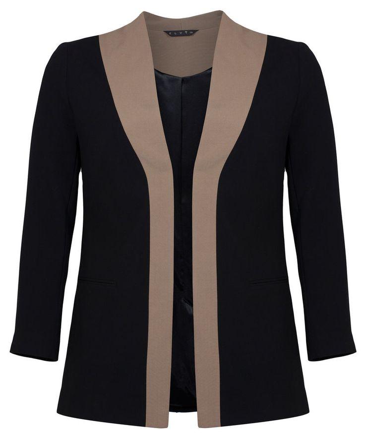 Womens Plus Size Ladies Black & Coffee Silhouette Jacket  #bbw #lasvegas #nica #pinolera #curvyfemale #psbloggers #plussizeoutfit #plussizeblogger #fatshion #tcfstyle #widecalfboots #yoek #ootdplus #fashionforwardplus #andigetdressed #pinkclove #weitschaftstiefel #sayajual #baazarpaknil #tribaldress #maxidress #sayajualmurah #instashop #pearlcloset #readystock #longdress #dress #igshop #thailandplussize #fattyshop
