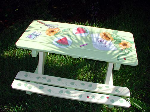 Hand Painted Childrens Stools