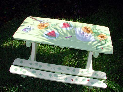 Best Picnic Table Paint Ideas Diy Projects Pinterest