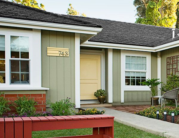 25 best images about mid century modern exterior house for Exterior modern house paint