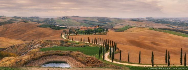 Фотограф Александр Науменко (Aleksandr Naumenko) - Италия. Тоскана. Панорама ландшафта у виллы Agriturismo Baccoleno #1669324. 35PHOTO