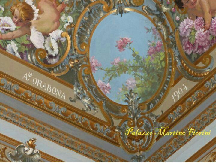 Dettaglio Sala degli Specchi presso Palazzo Martino Fiorini ad Acireale, Ct