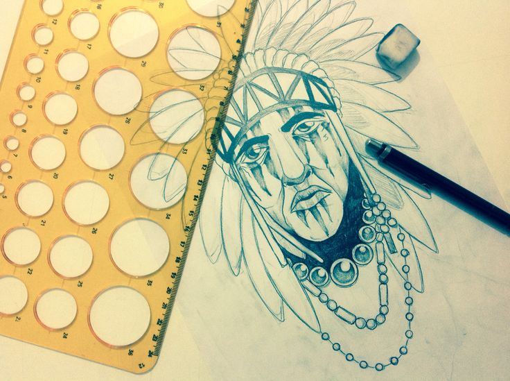 Indian sketch.