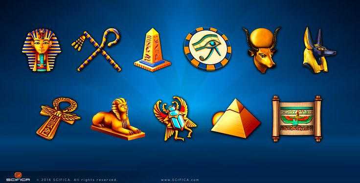 Icons for Online Casino slot machine game - Concept art, Illustration
