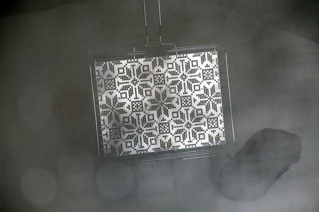 Фотофакт: белорусы придумали «выкованку» ― решетку-гриль с национальным орнаментом